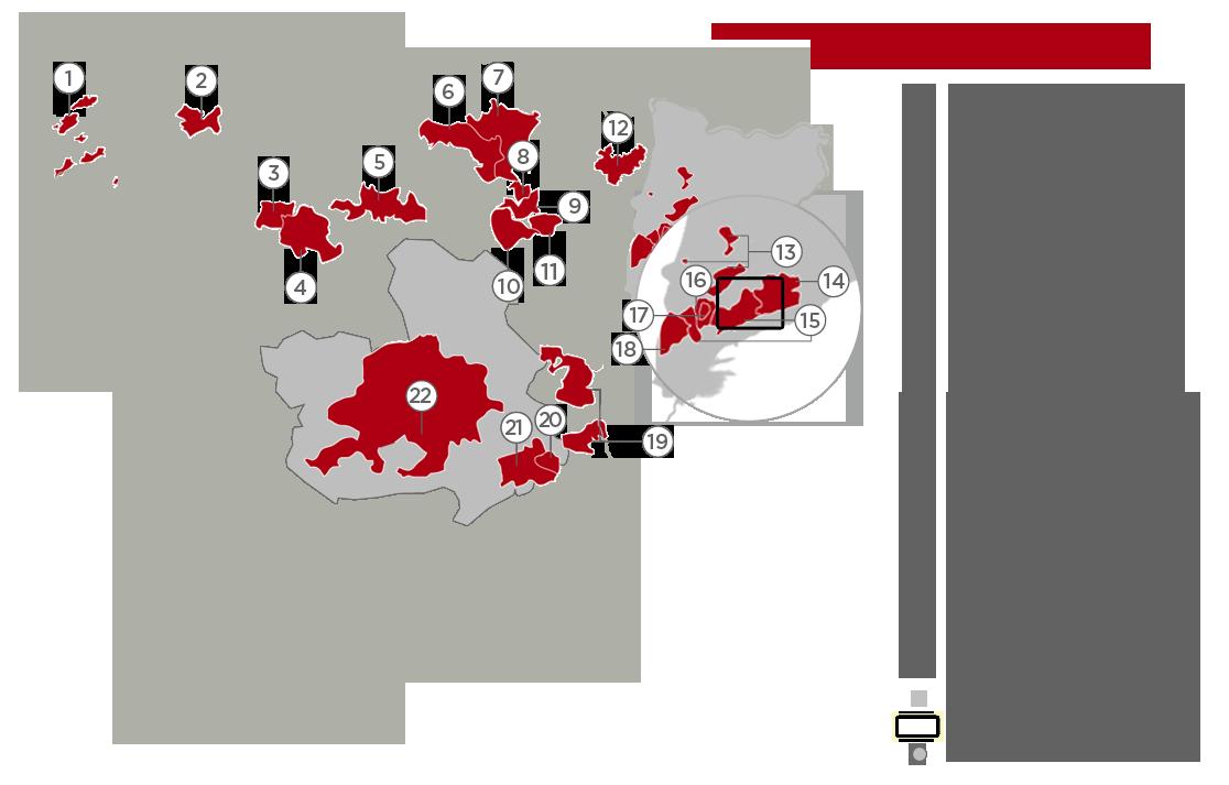 Map Of Spain Vineyards.Long Wines Award Winning Wines From Spain
