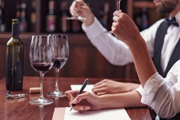 Professional wine tasting