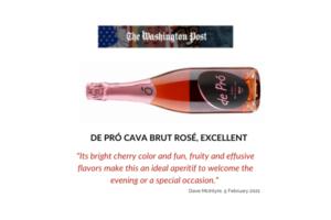 De Pró Cava rosé ideal for Valentine's